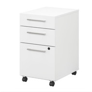 Bush Business Furniture 400 Series Mobile File Cabinet 3-Drawer - 400SMP3BBFWH