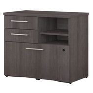 "Bush Business Furniture 400 Series Lower Piler Filer Cabinet 30"",  Storm Gray -  400SFP30SG"