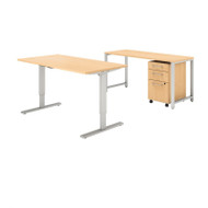 Bush Business Furniture 400 Series 60x30 Height Adjustable Standing Desk Package - 400S190AC