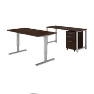 Bush Business Furniture 400 Series 60x30 Height Adjustable Standing Desk Package - 400S190MR