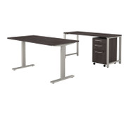 Bush Business Furniture 400 Series 60x30 Height Adjustable Standing Desk Package - 400S190SG