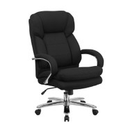 Flash Furniture HERCULES Series 24/7 Intensive Use Big & Tall 500 lb. Rated Black Fabric Executive Ergonomic Office Chair - GO-2078-GG