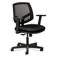 HON Volt Series Mesh Back Task Chair with Sychro-Tilt wit Arms Black Fabric - 5713GA10TARMS