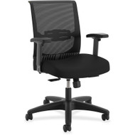 Basyx by HON Convergence Mid-Back Task Chair Black - CMY1AACCF10