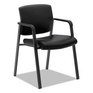 Basyx by HON Guest Chair, Black Leather - VL605SB11