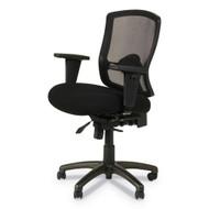 Alera Etros Series Petite Mid-Back Multifunction Mesh Chair, Black - ET4017