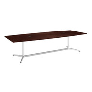 "Bush Business Furniture Boat-Shaped Conference Table with Metal Base 120""L x 48""W Harvest Cherry - 99TBM120CSSVK"