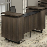 Mayline Safco Mirella Reception Desk with Glass Counter Top - MRRD78STO