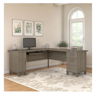 "Bush Somerset Collection L-Shaped Desk 71"" Ash Gray - WC81610K"