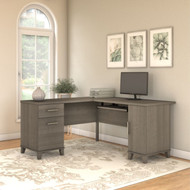 "Bush Somerset Collection L-Shaped Desk 60"" Ash Gray - WC81630K"