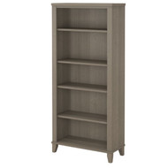 Bush Somerset Collection Bookcase 5-Shelf Ash Gray - WC81665