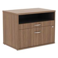 Alera SedinaAG Series Low File Cabinet Credenza Modern Walnut  - ALE-LS583020WA