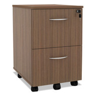 Alera SedinaAG Series Mobile File/File Pedestal Modern Walnut - SE521620WA