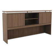 "Alera SedinaAG Series 66"" Hutch with Sliding Doors Modern Walnut - SE266615WA"