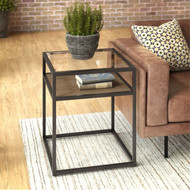 Bush Anthropology Glass Top End Table  - ATT120RB-03