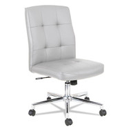 Alera Slimline Swivel Tilt Task Chair White with Chrome Base - NT4906