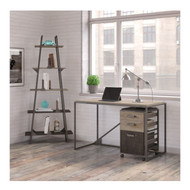 "Bush Refinery 50""W Industrial Desk with A Frame Bookshelf and Mobile File Cabinet-  RFY008RG"