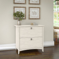 Bush Furniture Salinas Collection Lateral File Cabinet Antique White - SAF132AW-03