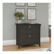 Bush Furniture Salinas Collection Lateral File Cabinet Vintage Black -SAF132VB-03