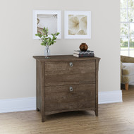 Bush Furniture Salinas Collection Lateral File Cabinet Ash Brown - SAF132ABR-03