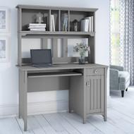 """Bush Furniture Salinas Desk and Hutch 48""""Cape Cod Gray - MY72308-03"""