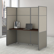 "Bush Business Furniture Easy Office Cubicle Desk 60""W x 66""H Closed Panels Workstation - EODH260MR-03K"