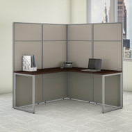"Bush Business Furniture Easy Office L-Shaped Cubicle Desk 60""W x 66""H Panels - EODH360MR-03K"