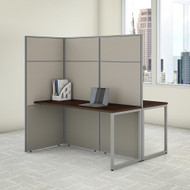 "Bush Business Furniture Easy Office 2 Person Cubicle Desk 60""W x 66""H Panels - EODH460MR-03K"