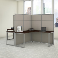 "Bush Business Furniture Easy Office 2 Person L Shaped Cubicle Desk 60""W x 66""H Panels - EODH560MR-03K"