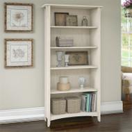 Bush Furniture Salinas 5 Shelf Bookcase Antique White - SAB132AW-03