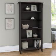 Bush Furniture Salinas 5 Shelf Bookcase Vintage Black - SAB132VB-03
