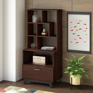 Bush Business Furniture Centura Lateral File Bookcase and Hutch - CTR006CWSU