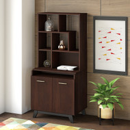 Bush Business Furniture Centura 2 Door Storage Cabinet and Hutch - CTR007CWSU