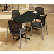 Safco Bistro Series Breakroom Table Peanut 72 x 30 - CA3PL