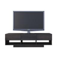 Nexera Rustik Collection TV Stand 60-inch, Ebony - 105130
