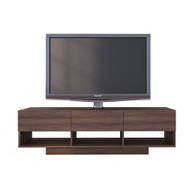 Nexera Rustik Collection TV Stand 60-inch, Walnut - 105131
