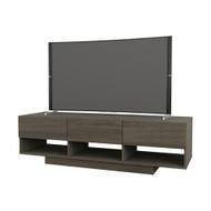 Nexera Rustik Collection TV Stand 60-inch, Bark Grey - 105144