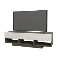 Nexera Rustik Collection TV Stand 60-inch, Bark Grey and White - 105148