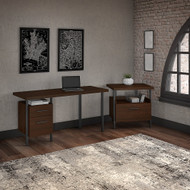"""Bush Furniture Architect 60""""W Desk with Lateral File - ACT001MW"""
