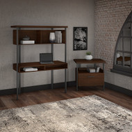 Bush Furniture Architect Computer Desk with Hutch and Lateral File Cabinet - ACT003MW