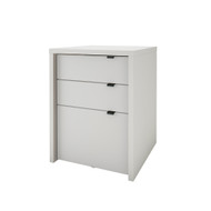 Nexera Chrono Collection 3-Drawer Filing Cabinet, White - 211200