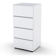 Nexera 3-Drawer Filing Cabinet, White - 220303