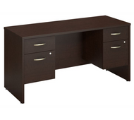 "Bush Business Series C Credenza with 2 Pedestals 60"" x 24"" - SRC066MRSU"