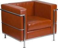 Flash Furniture Hercules Regal Series Contemporary Cognac LeatherSoft Chair - ZB-REGAL-810-1-CHAIR-COG-GG