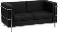 Flash Furniture Hercules Regal Series Contemporary Black LeatherSoft Loveseat - ZB-REGAL-810-2-LS-BK-GG