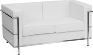 Flash Furniture Hercules Regal Series Contemporary White LeatherSoft Loveseat - ZB-REGAL-810-2-LS-WH-GG
