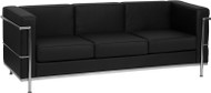Flash Furniture Hercules Regal Series Contemporary Black LeatherSoft Sofa - ZB-REGAL-810-3-SOFA-BK-GG
