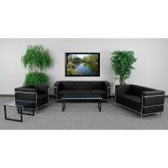 Flash Furniture HERCULES Regal Series Reception Set in Black - ZB-REGAL-810-SET-BK-GG