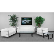 Flash Furniture HERCULES Regal Series Reception Set in White - ZB-REGAL-810-SET-WH-GG