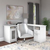 Bush Cabot Collection L-Shaped Desk Package White - CAB059WHN